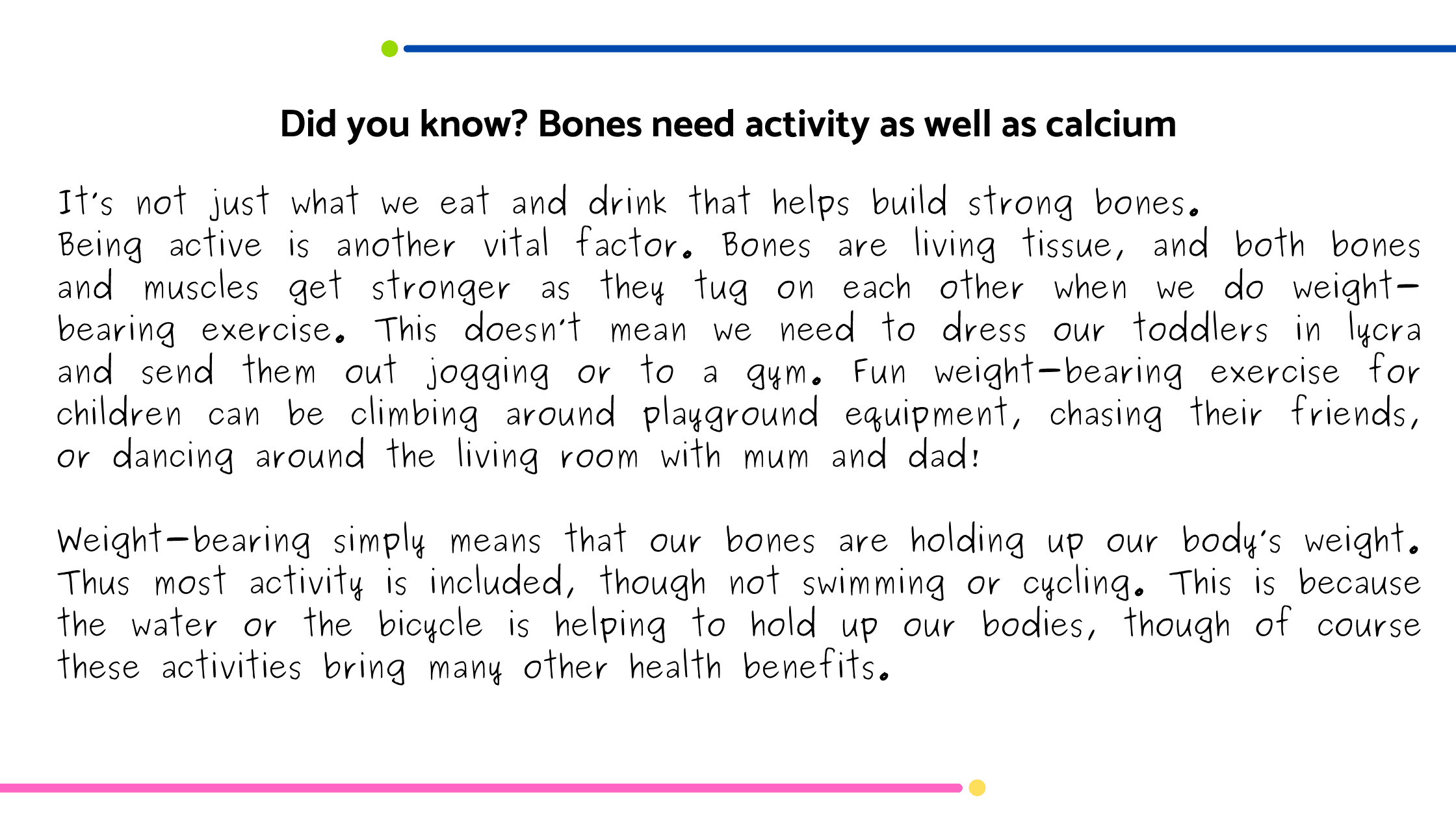 Did You Know Calcium blog